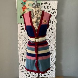 Vintage   color blocked sweater vest size Small